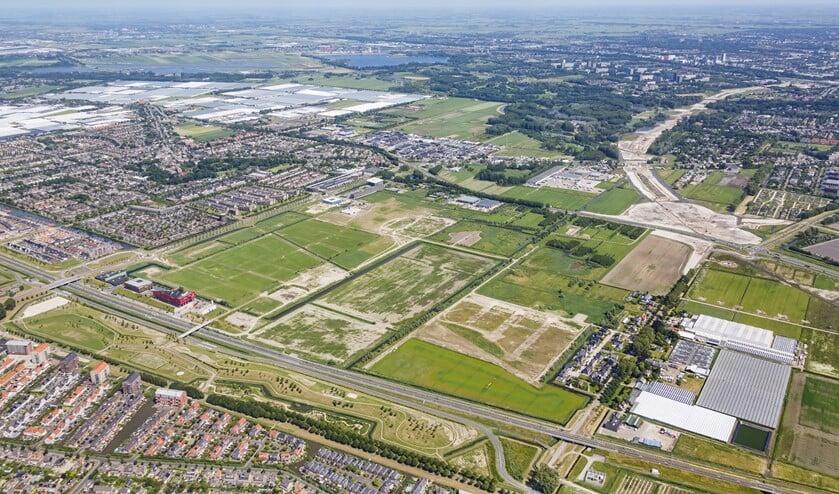 Een luchtfoto van de nog te bouwen woonwijk Wilderszijde. (Foto: J. Althof/PR)