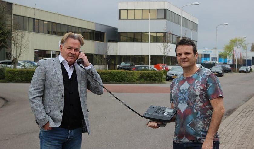 <p>Bondy Verkijk (links) en Paul Wijnants opereren vanaf bedrijvenpark de Boezem in Pijnacker. </p>