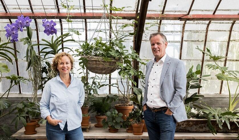 <p>Projectleider Annette Kelleter en ondernemer Cees van der Meij.</p>