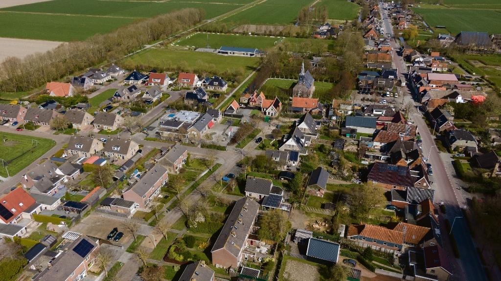 <p>Froubuurt met linksboven het nieuwe MFC</p> Siebe Kuipers © bildt.nu