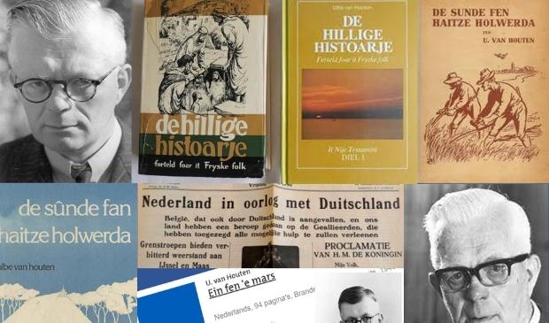Schrijver Ulbe van Houten. Zijn bekendste boek was De sûnde fan Haitze Holwerda.