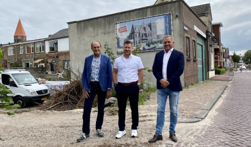 De Willeskopperpoort, het zou zo mooi kunnen zijn, menen ondernemers Wim van den Pol (links), Eelco Veltman (midden), en Harry van Zandwijk (rechts)