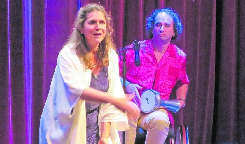 <p>Gastverteller Katty Wtterwulghe vertelde twee boeiende verhalen.<br>Zij werd door David Samson met melodische percussie begeleid. </p>
