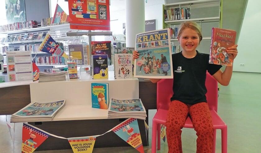 """<p pstyle=""""BODY"""">Danisha de Bruijn (7) in de bibliotheek van Oudewater weet al wat ze wil worden. Juf!</p>"""