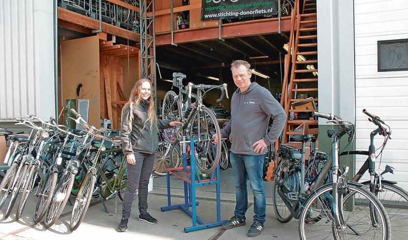 <p>Hanneke Verbeek en Leslie Buchan.</p>