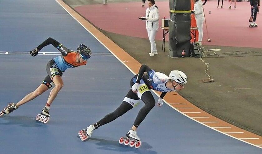 """<p pstyle=""""BODY"""">Tom gaf in de serie van de 500 meter de latere winnaar R&eacute;mon Kwant flink partij.</p>"""