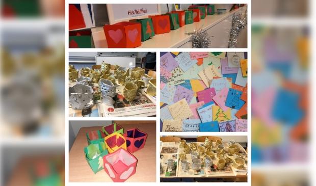 Kaarsjes en kaartjes gemaakt door de leerlingen van KBS Het Veldhuis