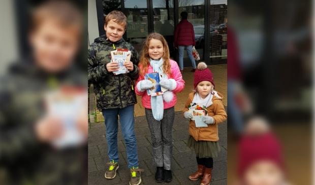 Hier zie je de drie kinderen Guido Lize en Vera