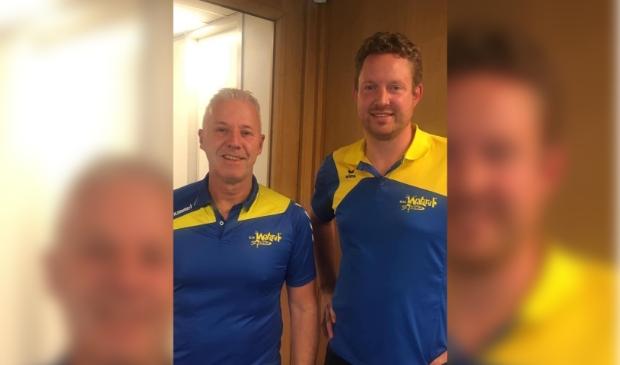 Nieuwe hoofdtrainer Ton Pouw (Links) met oud-herenselectie trainer Remco Kamer