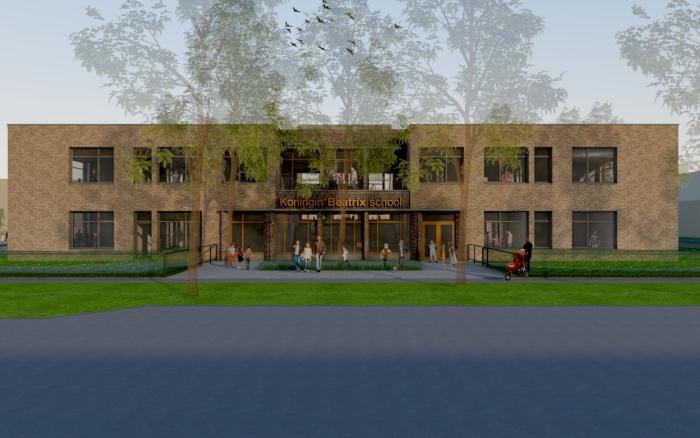 Het nieuwe schoolgebouw Hilda Lubberts © Van Dijk Grafimedia BV