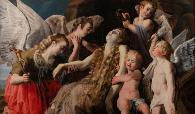 9. Melchior de la Mars (toegeschreven aan), De bewening van de stervende Maria Magdalena, 1620-9. The Phoebus Foundation, Antwerpen.