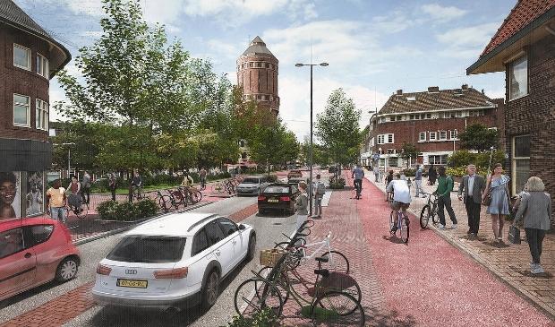 <p>Sfeerimpressie van de mogelijk nieuwe inrichting van de Amsterdamsestraatweg. </p>