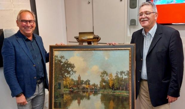 <p>Henk Stoltz, voorzitter Vechtstreekmuseum, en Bert Appeldoorn, voorzitter Vrienden Vechtstreekmuseum</p>