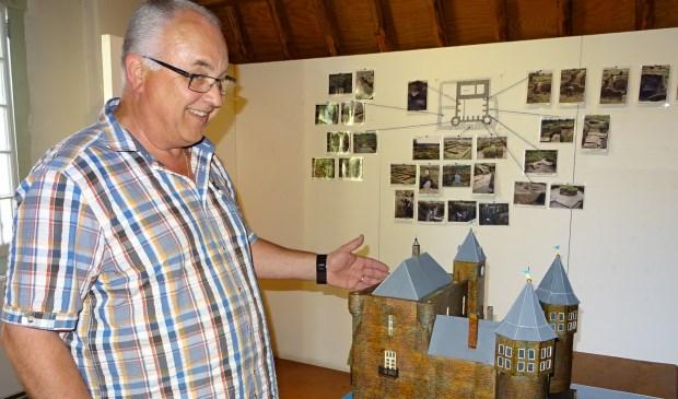 De maquette van Cees den Otter van kasteel Valkesteyn. Foto: Koos Romeijn