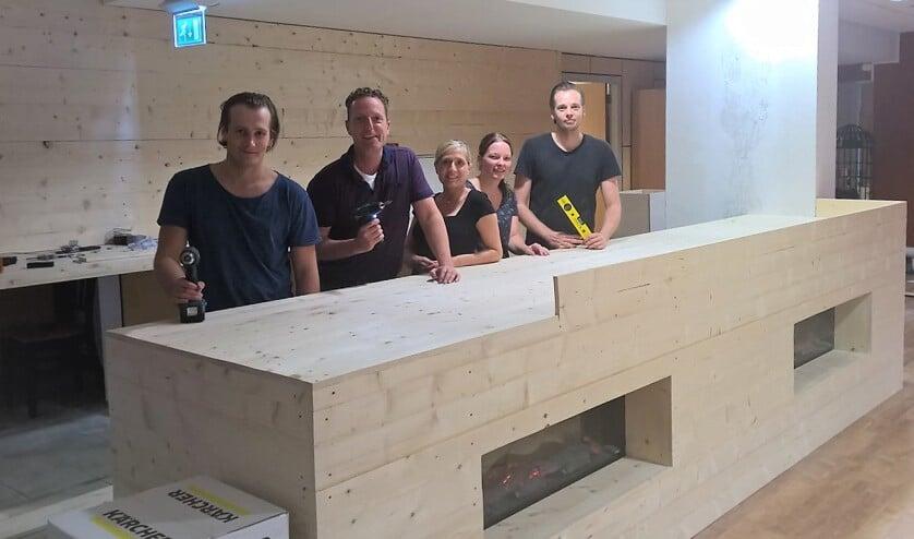 Het team van De Wensboom: Christiaan, Rob, Suzanne, Saskia en Roeland.