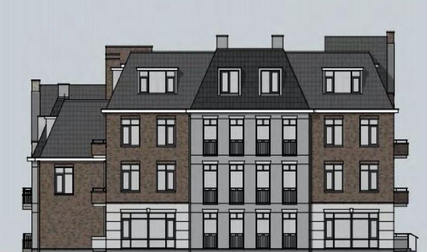 Zo ziet het complex er straks uit (vanaf de Groene Kruisweg).