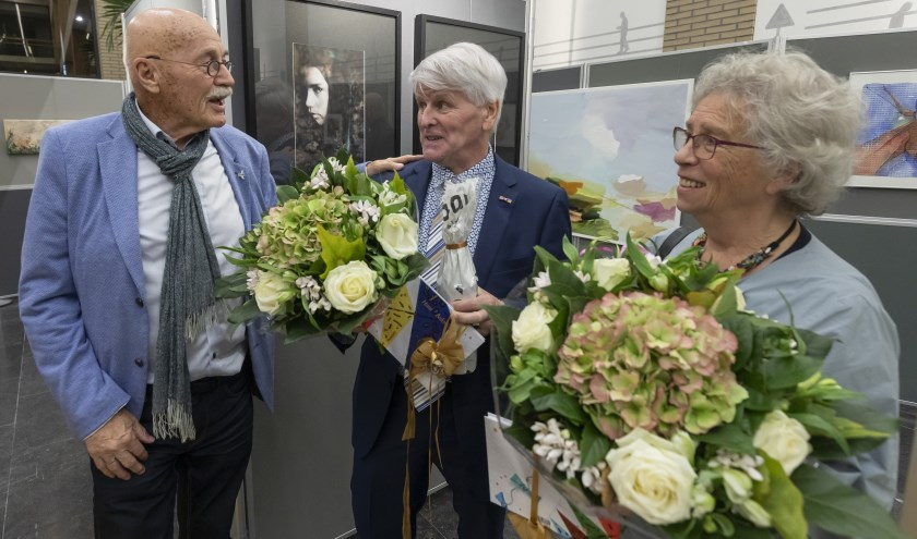 Henk Zwiers zette Hans Ipskamp en Netty van Rotterdam in de bloemen