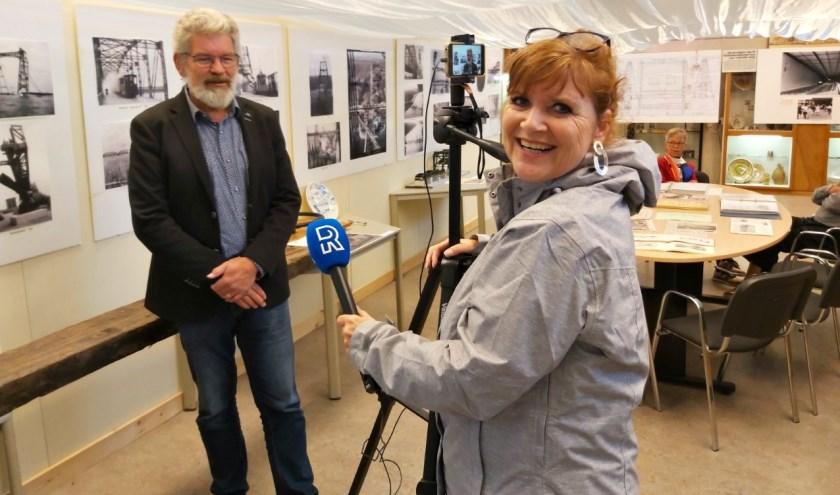 Arco van de Ree in gesprek met Marcia Tap. (foto: Arco van der Lee)