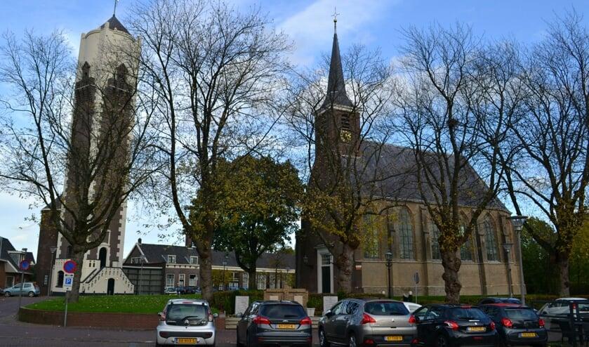 Watertoren, de Ouwe School en de Dorpskerk zijn het kenmerkende hart van de Oude Dorpskern van Barendrecht.