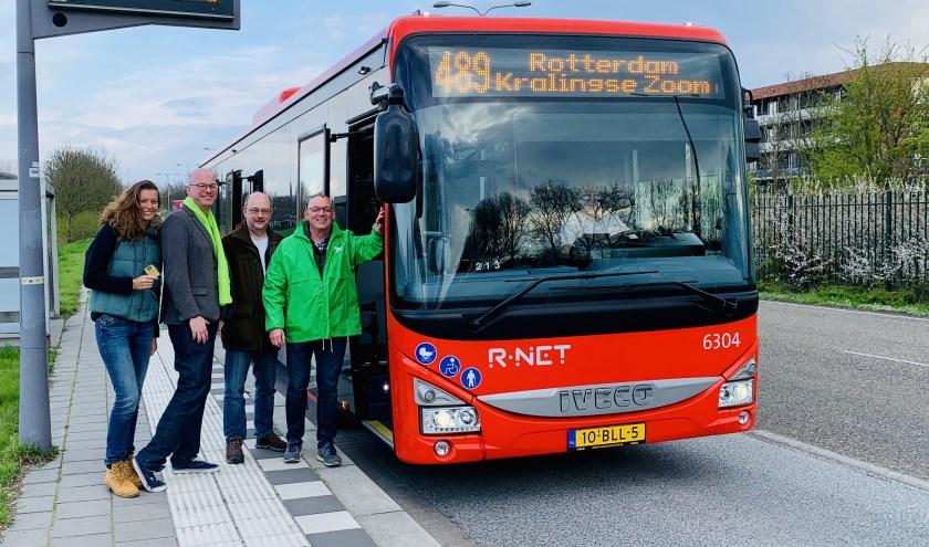 Leden van GroenLinks probeerden de bussen uit