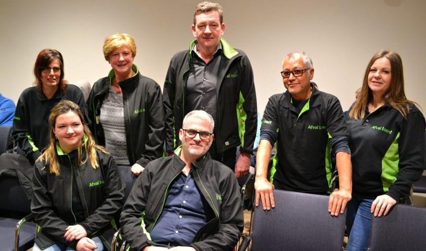 Het team van Afval loont was dinsdag present in de raadszaal.