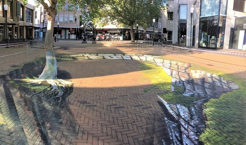 Met deze dieptetekening in wording is het 3D Street Art Festival gestart