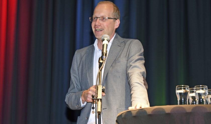 Marco Visscher aan het woord. Foto: Cees Bakker