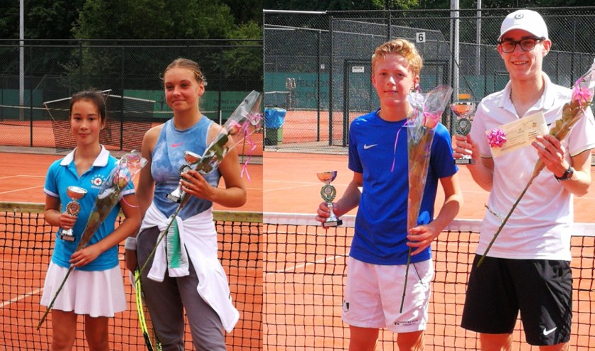 De finalisten van de Oudelande jeugd open