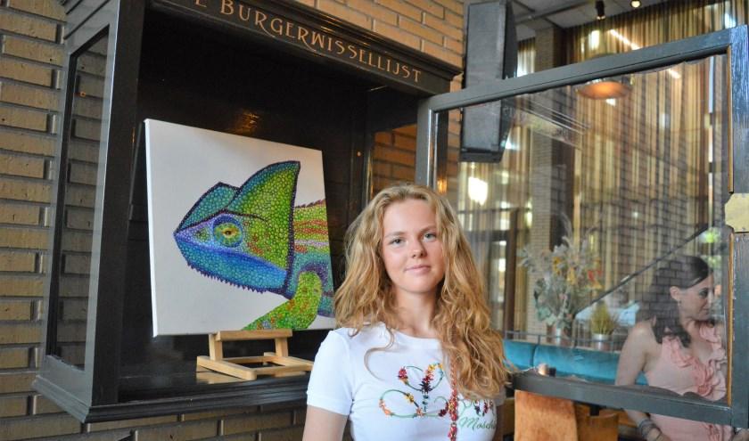 Babette Hamstra heeft een kleurrijk werk in de Burgerwissellijst