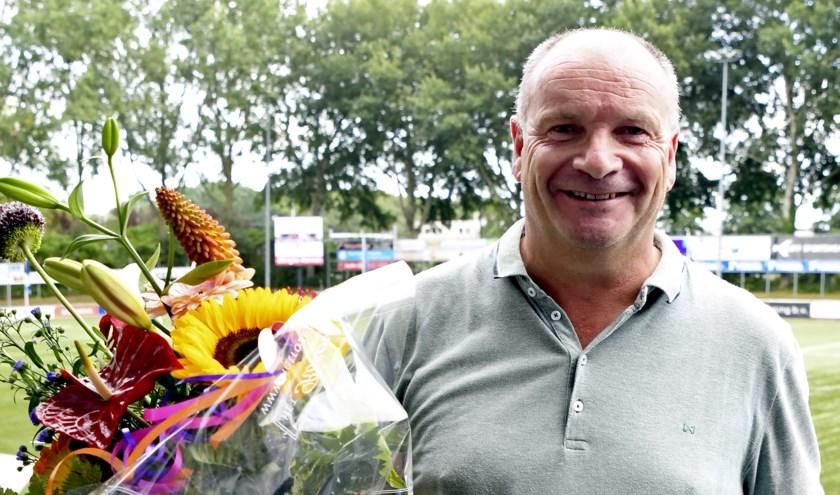 Bloemen voor Rob van den Eijnden.