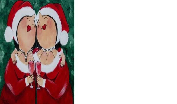 Mijn Afbeeldingen Kerst.Activiteit Workshop Dikke Dames In Kerstsfeer Schilderen