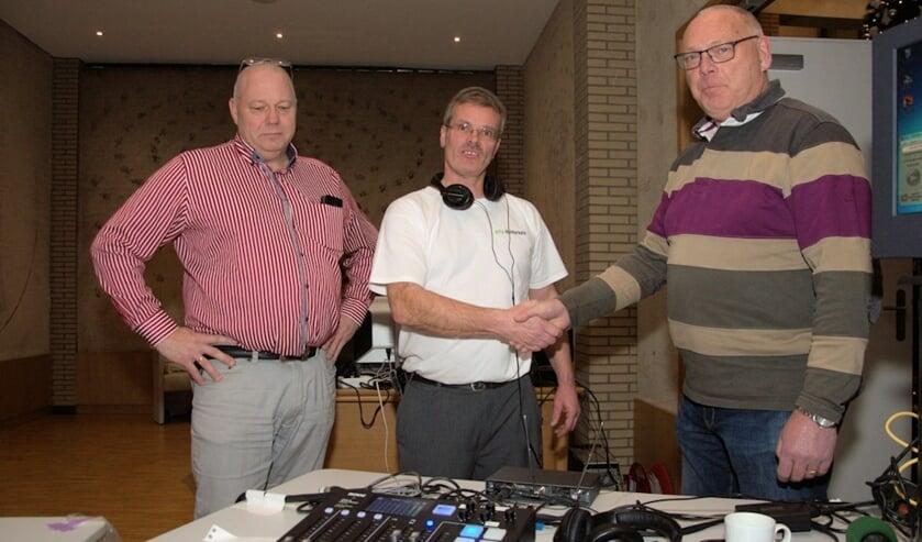 V.l.n.r.: Wijnand Punt, Aad Hoogendijk en Cor van Pelt.