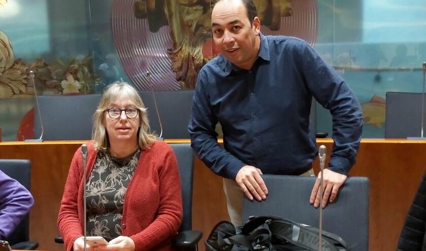 Marianne Tijssen-Humme en Marcel van Prehn, dinsdagavond.