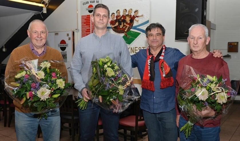 v.l.n.r.: Flip Bode, Patrick Werkhoven, Rinus Hitzert en Rien van de Beek.