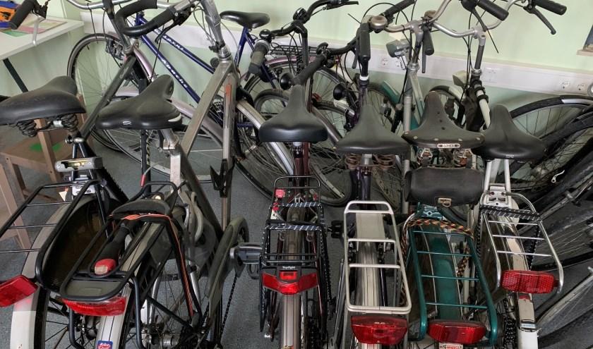 Er werden flink wat fietsen ingeleverd voor de Kledingbank