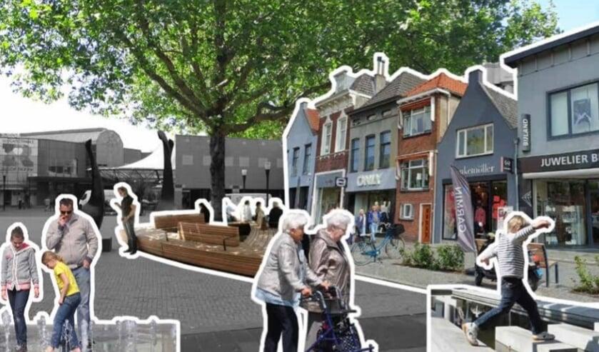 Beeld uit ontwikkelperspectief: Sint Jorisplein met fonteintjes