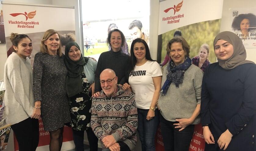 Leden van het team van Vluchtelingenwerk in Barendrecht.