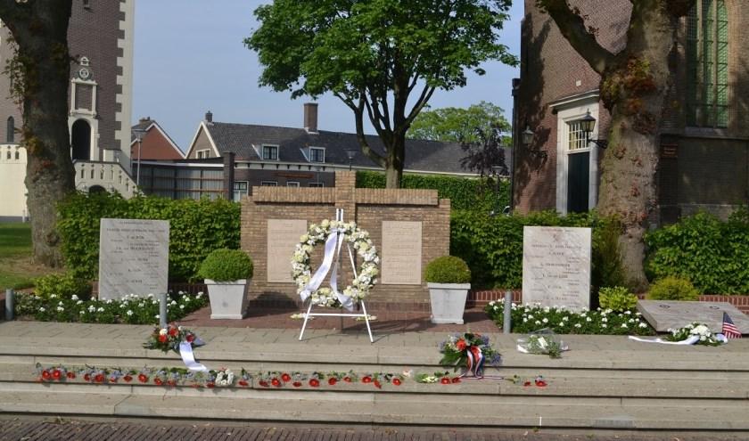 Het monument op het Doormanplein. (archieffoto)
