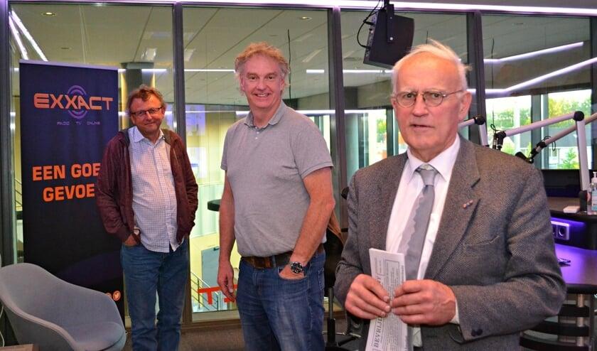 Ad Los (rechts) in de studio van Exxact Barendrecht.