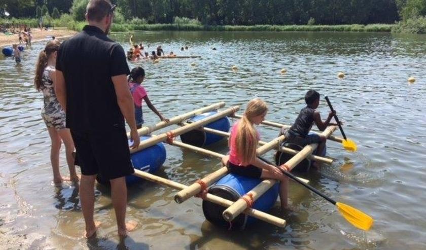 Vorig jaar was vlotten bouwen in trek bij de Summer Events