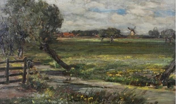 <p>Een Rijsoords werk van Owen Bowen (Engeland) ca. 1900</p>