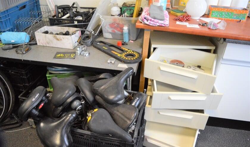 <p>Bijna al het gereedschap van de Fietsenbank werd gestolen tijdens een overval vorige maand.&nbsp;</p>
