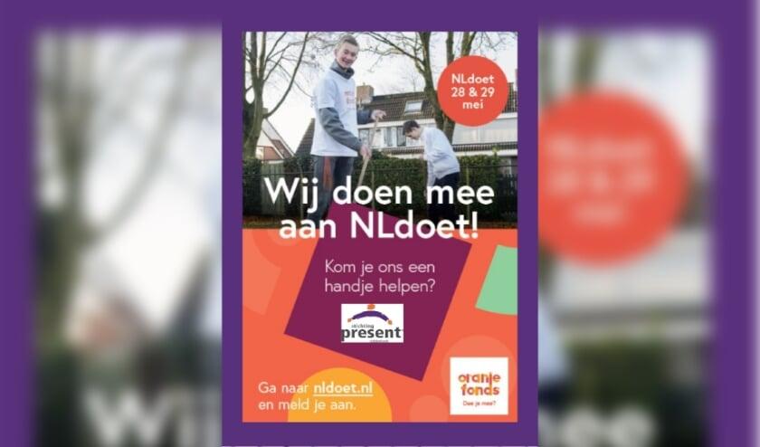 <p>NLdoet is de grootste vrijwilligersactie van Nederland georganiseerd door het Oranje Fonds. NLdoet zet vrijwilligerswerk in de spotlights en nodigt iedereen uit om een dagje de handen uit de mouwen te steken. </p>