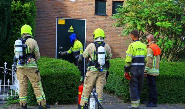 <p>Er was rook, maar geen brand (foto Dennis van Wingerden)</p>