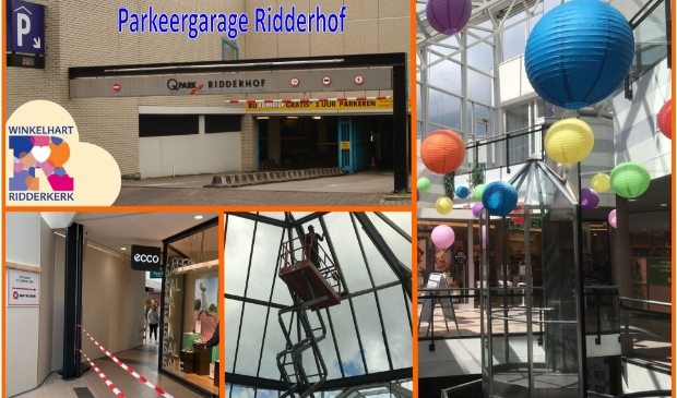 <p>Het werk in winkelcentrum Ridderhof gaat ook de komende weken door.</p>