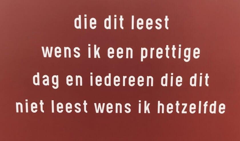 <p>Het gedicht van Wynand Buursink op de Muur </p>