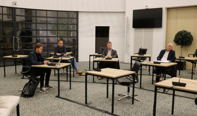 <p>v.l.n.r.: fractievoorzitters Andr&eacute; Scheppink (SGP), Dieger ten Berge (CDA), Jan Beunk (GB) en Jan Berkhoff (CU).</p>