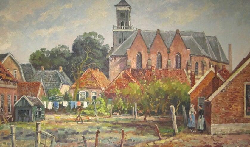 RIJSSEN - Gerrit Kwintenberg schilderde veel taferelen in de Rijssense binnenstad.