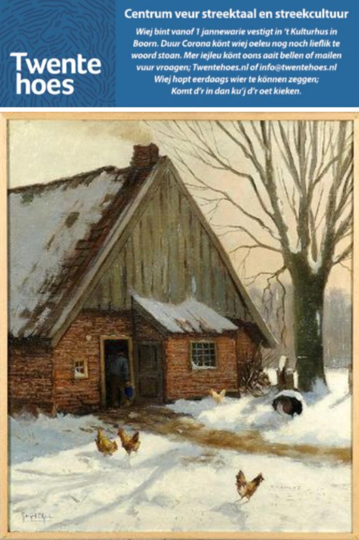 <p>&quot;Winterzon op &#39;Riesmanskotten&quot; omgeving Lonneker<br>Schilder: Gerard C. Krol<br>Collectie: Vereniging Oudheidkamer Twente</p>