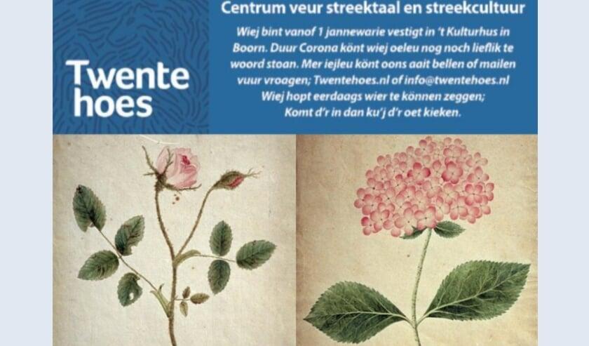 <p>Afbeeldingen van Johanna Elderink-Blijdenstein (1797-1820)<br>Bloeiende Hortensia datering 1815, Bloeiende Rozentak datering 1813<br>Collectie Vereniging Oudheidkamer Twente</p>